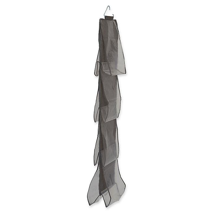 Alternate image 1 for Household Essentials® 8-Pocket Hanging Handbag Storage Organizer in Grey