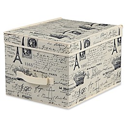 Home Basics® Paris Jumbo Storage Box with Lid