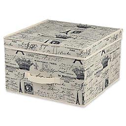Home Basics® Paris Large Storage Box with Lid