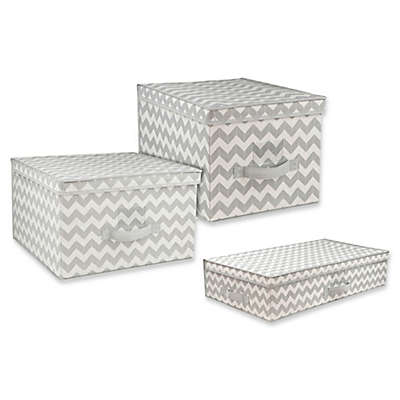 Home Basics® Chevron Storage and Organizer Collection