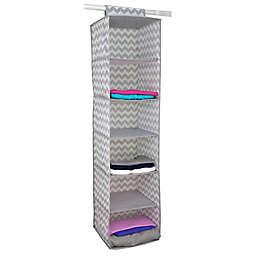 Home Basics® Chevron 6-Shelf Hanging Closet Organizer in Grey