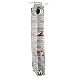 Home Basics® Chevron 10-Shelf Hanging Closet Organizer in Grey