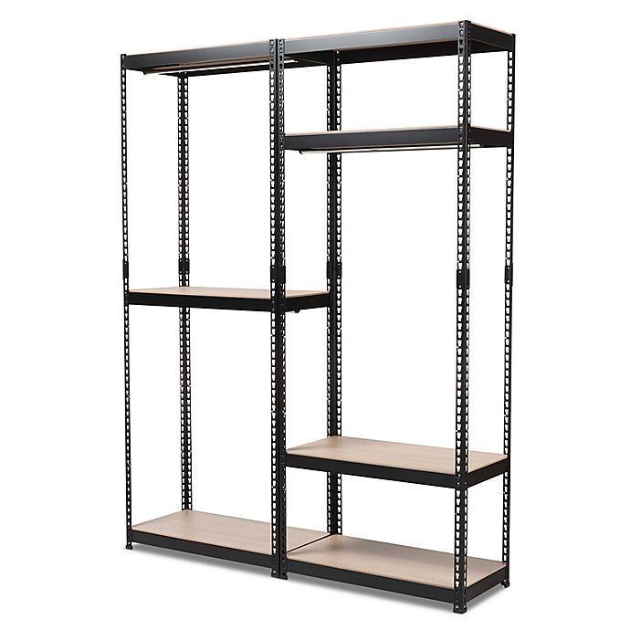 Alternate image 1 for Baxton Studio Gavin Metal 7-Shelf Closet Storage Organizer in Black