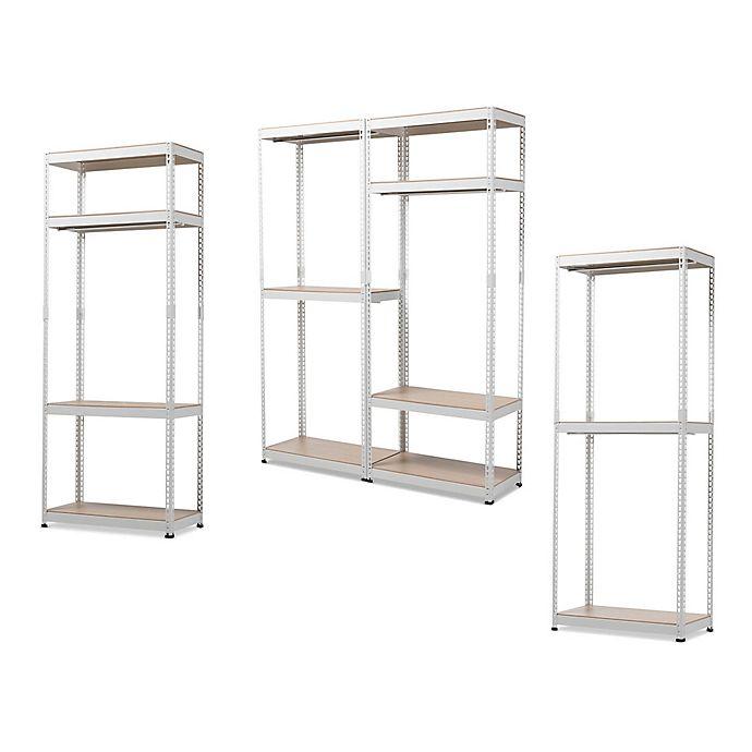 Alternate image 1 for Baxton Studio Gavin Metal Closet Storage Organizer Collection in White