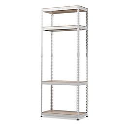Baxton Studio Gavin Metal 4-Shelf Closet Storage Organizer in White