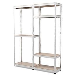 Baxton Studio Gavin Metal 7-Shelf Closet Storage Organizer in White