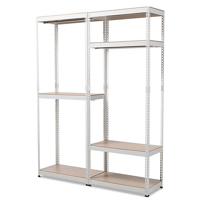 Alternate image 1 for Baxton Studio Gavin Metal 7-Shelf Closet Storage Organizer in White
