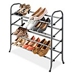 Whitmor 4-Tier Expandable Shoe Rack in Grey