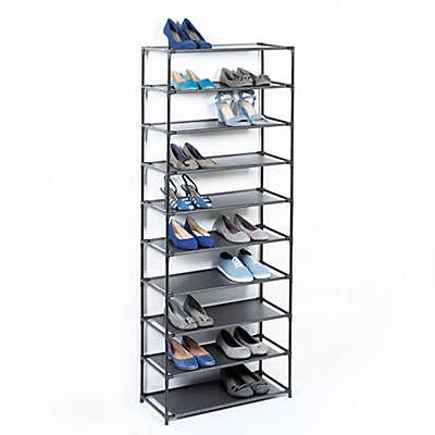 Studio 3B™ 10-Tier Fabric Shoe Rack in Black