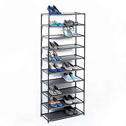 Studio 3BTM 10 Tier Fabric Shoe Rack In Black