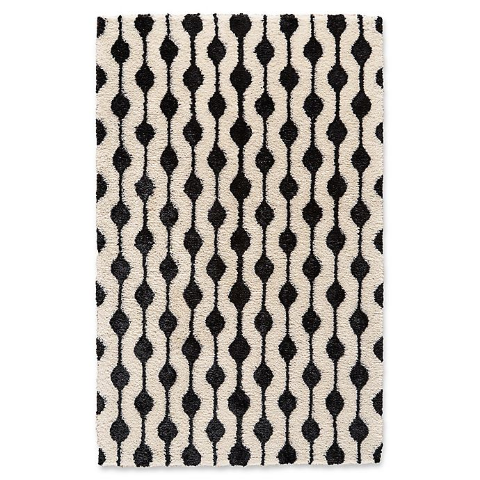 Alternate image 1 for Feizy Noemie 5-Foot x 8-Foot Area Rug in White/Black
