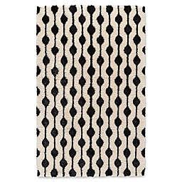 Feizy Noemie Area Rug in White/Black