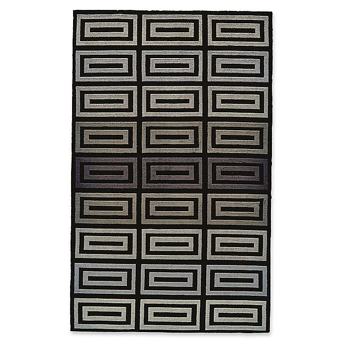 Alternate image 1 for Feizy Aubrey Geometric 5-Foot x 8-Foot Area Rug in Grey/Black