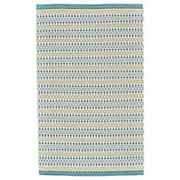 Feizy Naim Diamond Rug in Turquoise/Lime