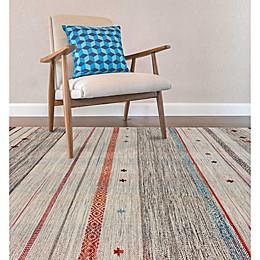 Feizy Mirella Flat Weave Area Rug in Light Grey