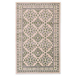 Feizy Aileen 5-Foot 2-Inch x 8-Foot Area Rug in Green/Cream