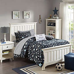 Mizone Kids Starry Night Complete Comforter Set in Charcoal