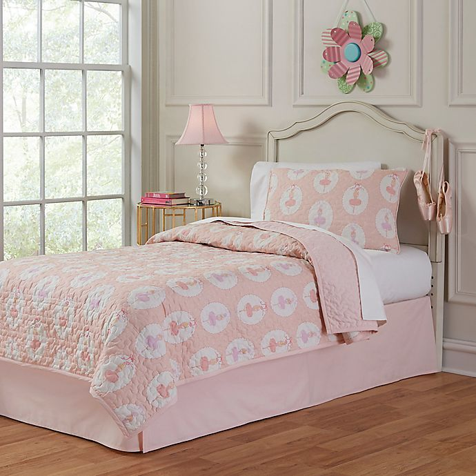 Lullaby Bedding Ballerina Quilt Set | Bed Bath and Beyond ...