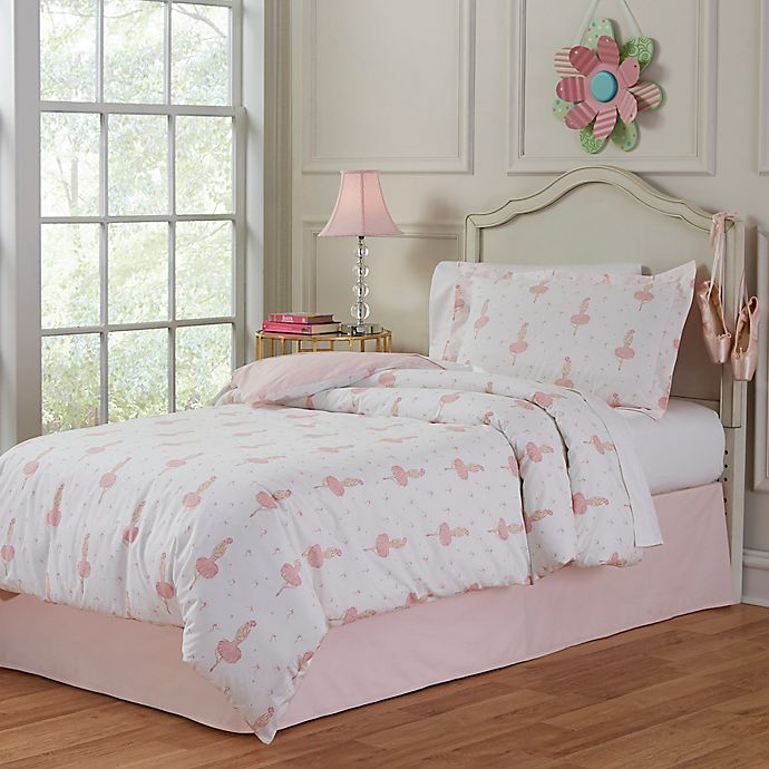 Alternate image 1 for Lullaby Bedding Ballerina Comforter Set