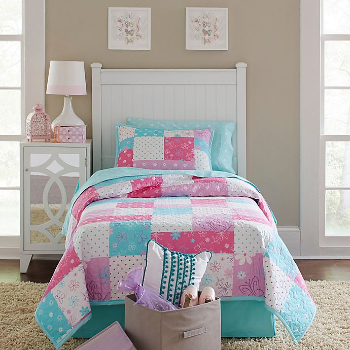 Alternate image 1 for Lullaby Bedding Butterfly Garden Quilt Set