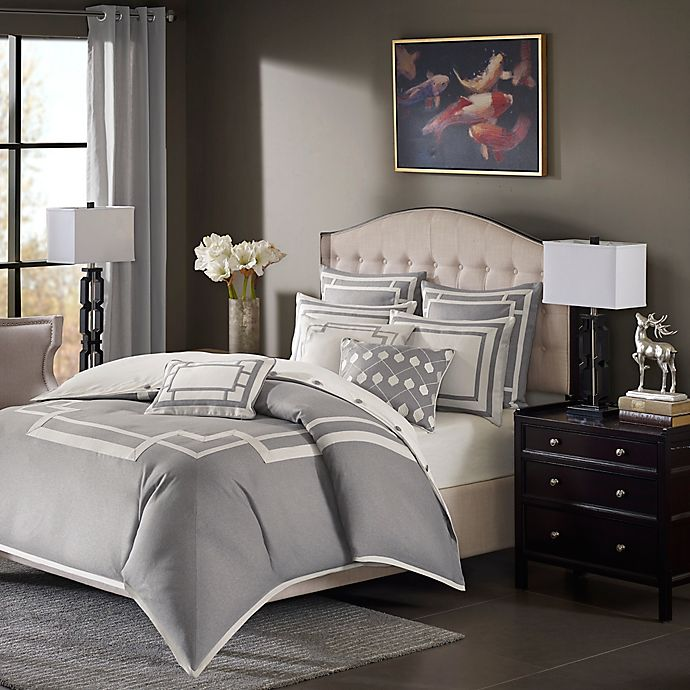 Alternate image 1 for Madison Park Signature Savoy 8-Piece King Comforter Set in Grey
