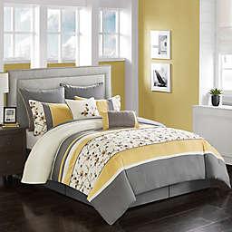 Yellow Gray Comforter Set Bed Bath Beyond