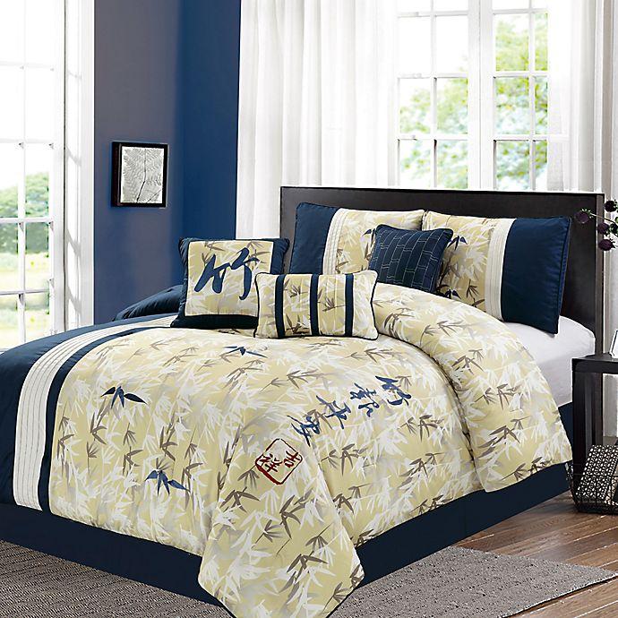 Feng Shui And Beyond: Feng-Shui 7-Piece Comforter Set In Yellow