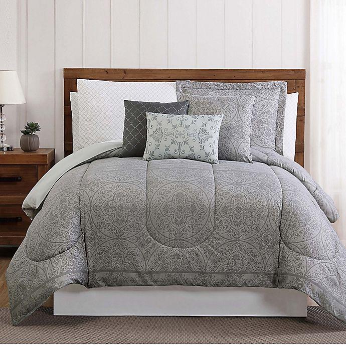 Alternate image 1 for Calista 12-Piece King Comforter Set in Grey