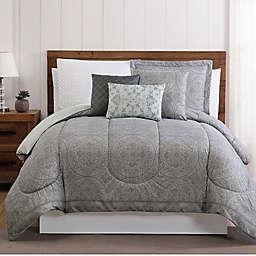 Calista 12-Piece Queen Comforter Set in Grey