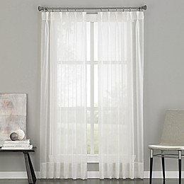 Soho Voile Pinch Pleat Rod Pocket Window Curtain Panel