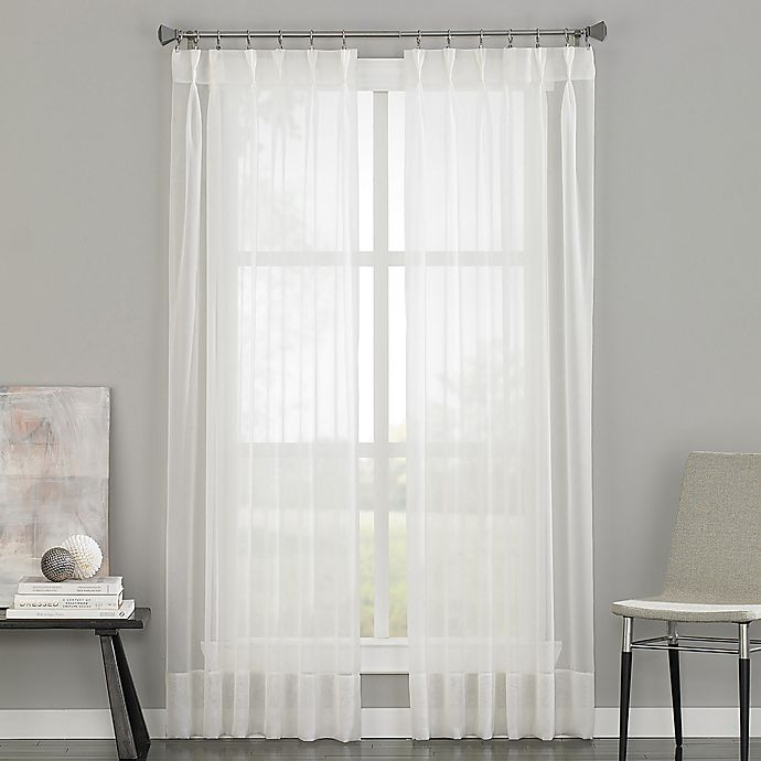 Alternate image 1 for Soho Voile Pinch Pleat 84-Inch Rod Pocket Window Curtain Panel in Oyster