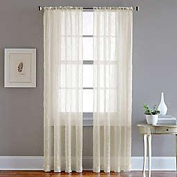 Pintuck Rod Pocket Sheer Window Curtain Panel