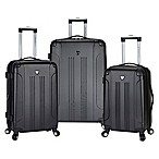 Traveler's Club® Chicago 3-Piece Hardside Spinner Luggage Set in Black