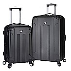Traveler's Club® Chicago 2-Piece Hardside Spinner Luggage Set in Black