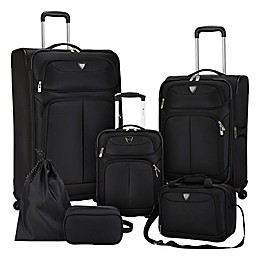 Travelers Club® Hartford 6-Piece Soft Side Luggage Set