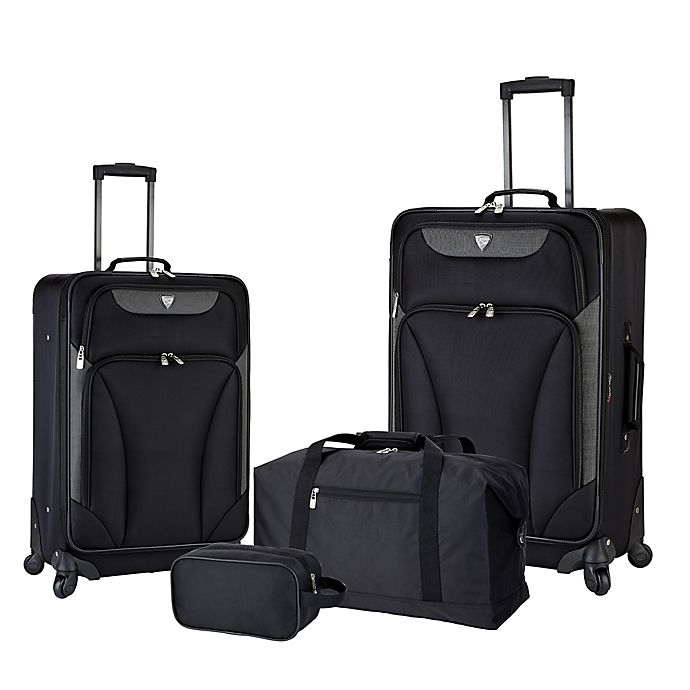 Alternate image 1 for Traveler's Club® Augusta 4-Piece Luggage Set