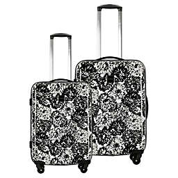 Isaac Mizrahi Boldon Hardside Spinner Checked Luggage