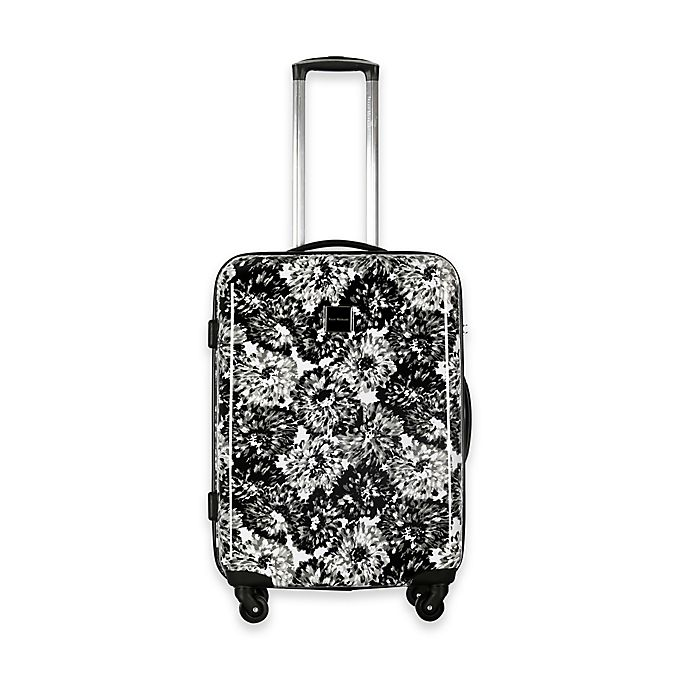 Alternate image 1 for Isaac Mizrahi Boldon 22-Inch Hardside Spinner Suitcase in Black/White