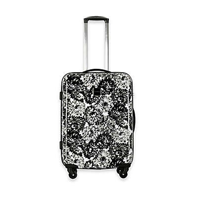 Isaac Mizrahi Boldon 22-Inch Hardside Spinner Suitcase in Black/White