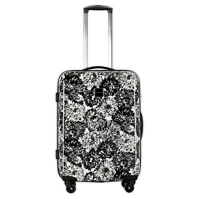 Alternate image 1 for Isaac Mizrahi Boldon 29-Inch Hardside Spinner Suitcase in Black/White