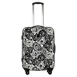 Isaac Mizrahi Boldon 29-Inch Hardside Spinner Suitcase in Black/White