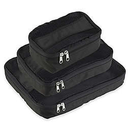Latitude 40 ° N® Packing Cubes 3-Pack in Black