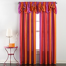 Rainbow Ombre Window Curtain Panel and Valance