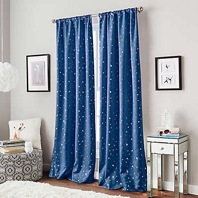 Starry Night Rod Pocket Window Curtain Panel