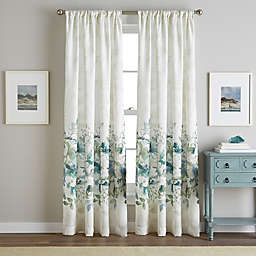 Watercolor Floral Rod Pocket Window Curtain Panel