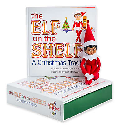 """The Elf on the Shelf: A Christmas Tradition"" 2-Piece Book and Plush Light Skin Girl Scout Set"