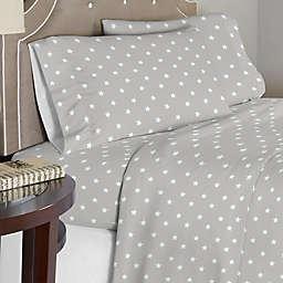 Lullaby Bedding Space Sheet Set in Grey/White