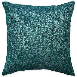 Beautyrest® Alexina Square Beaded Throw Pillow in Peacock