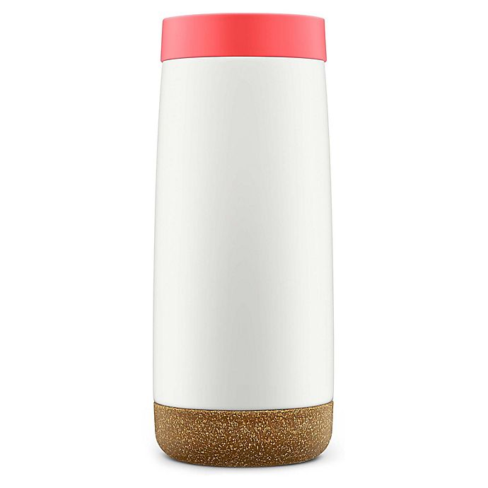 Alternate image 1 for Ello Vacuum-Insulated Stainless Steel 18 oz. Travel Mug in Coral