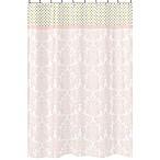 Sweet Jojo Designs Amelia Shower Curtain in Pink/Gold